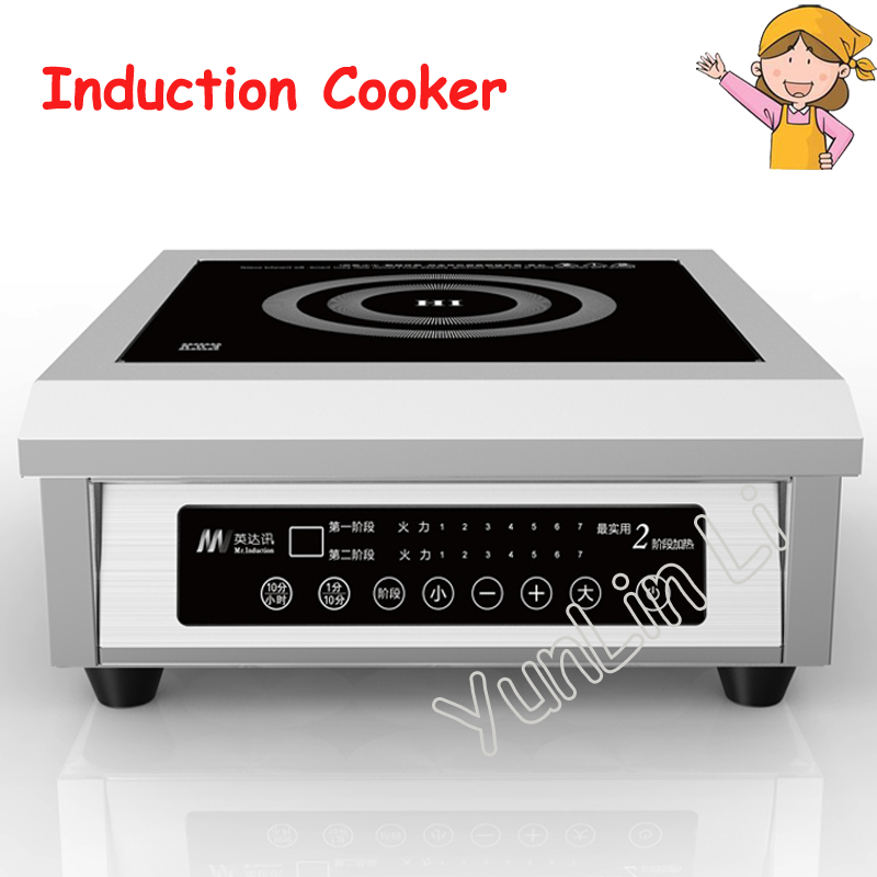 High Power Induction Cooker Commercial Induction Cooker 6kw Electromagnetic Oven Restaurant Soup Stove free shipping electric power ceramic stove tricyclic infrared light electromagnetic oven silent does induction cookers