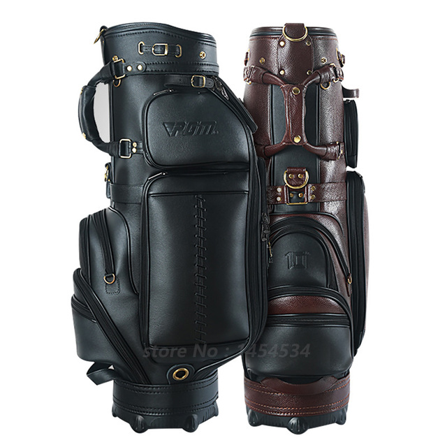 PGM Golf Waterproof Genuine Leather Bag Standard Ball Package Large capacity with Cover Style High-end Personalized Custom Brand