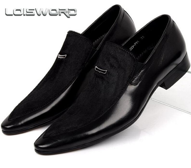 Loisword large size eur45 black mens suede dress shoes for Black dress shoes for wedding