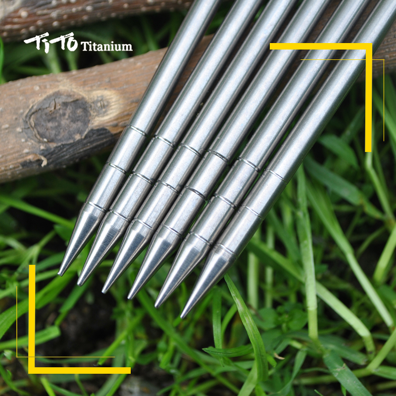 6pcs TiTo Titanium Alloy Tent Peg Titanium spike nail Outdoor C&ing Accessory Tent Stake Diameter 5.0mm/6.0mm tent peg-in Tent Accessories from Sports ... & 6pcs TiTo Titanium Alloy Tent Peg Titanium spike nail Outdoor ...