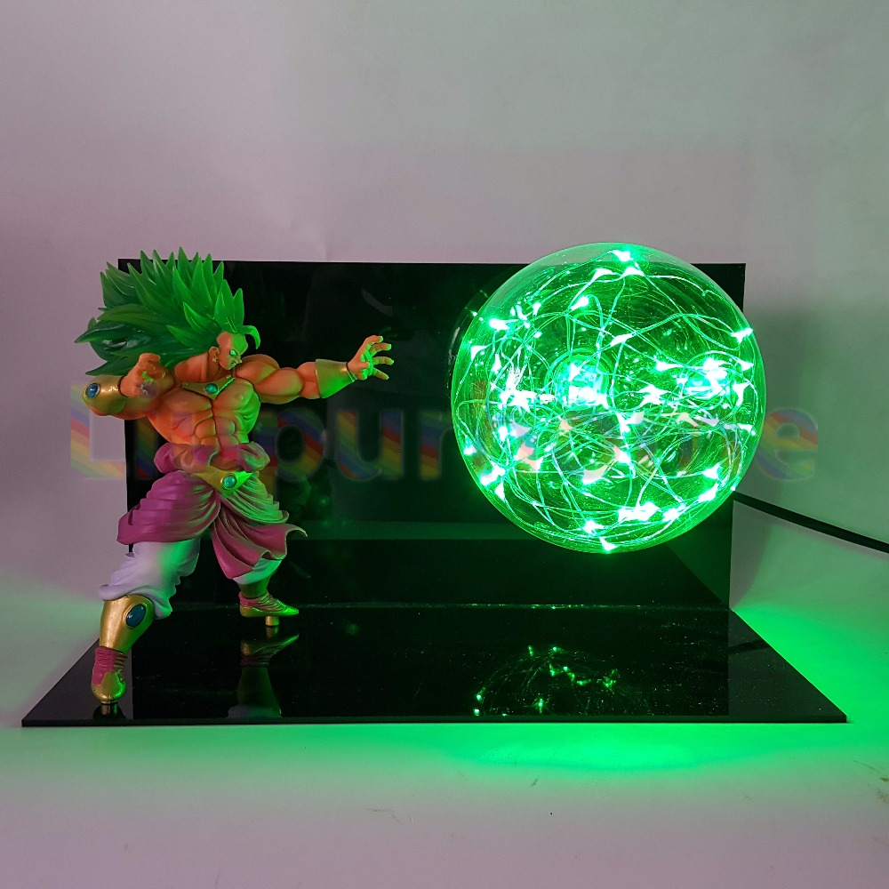 Dragon Ball Broly Vs Vegeta Led Night Light Dragon Ball Super Anime Figure Green Rock Base Table Lamp Lampara Dragon Ball Dbz Goods Of Every Description Are Available Led Night Lights Lights & Lighting