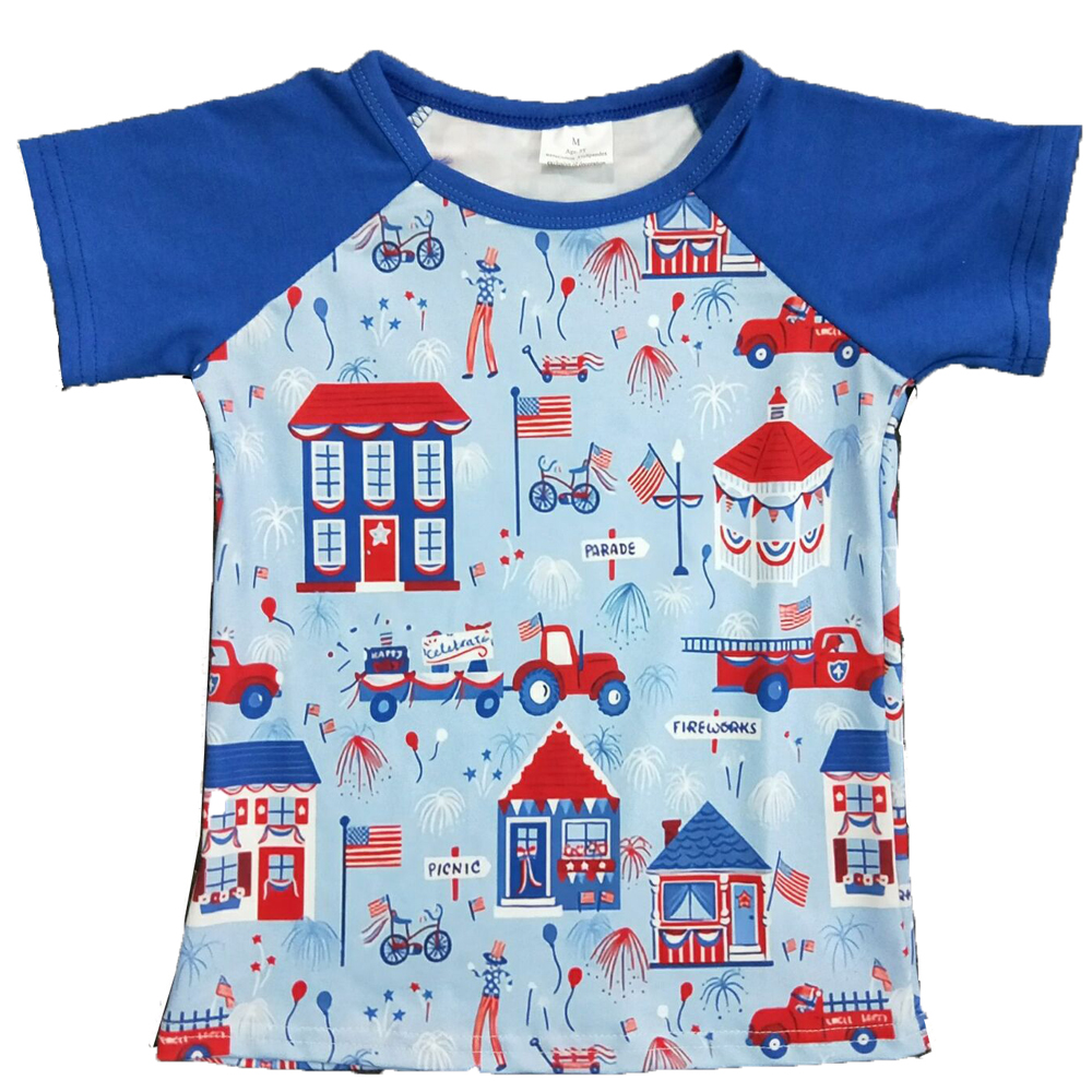 Children's Clothing Short-Sleeve Top-Boutique Print Summer Boy Round-Neck Comfortable