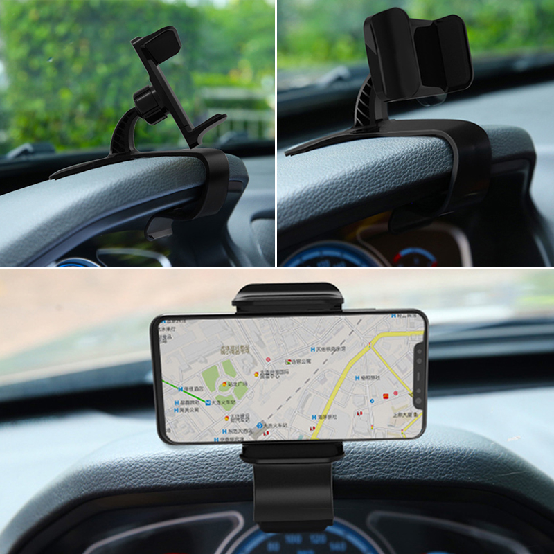 Image 3 - Dashboard Car Phone Holder GPS Navigation Support Smartphone Mount Stand Clip On Dashboard Mobile Phones Holder Auto Accessories-in Universal Car Bracket from Automobiles & Motorcycles
