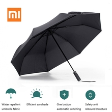 Xiaomi Mijia Umbrella Automatic Sunny Rainy Folded Bumbershoot Aluminum Windproof Waterproof Parasol Man Woman Summer Sunshade