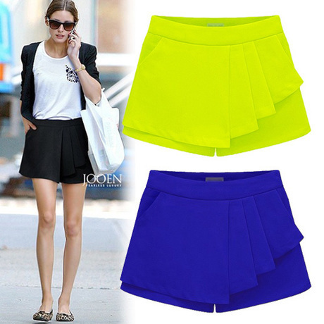 new fashion 2016 summer style women shorts high waist thin loose shorts slim pleated zipper fly lady female shorts XL XXL W098