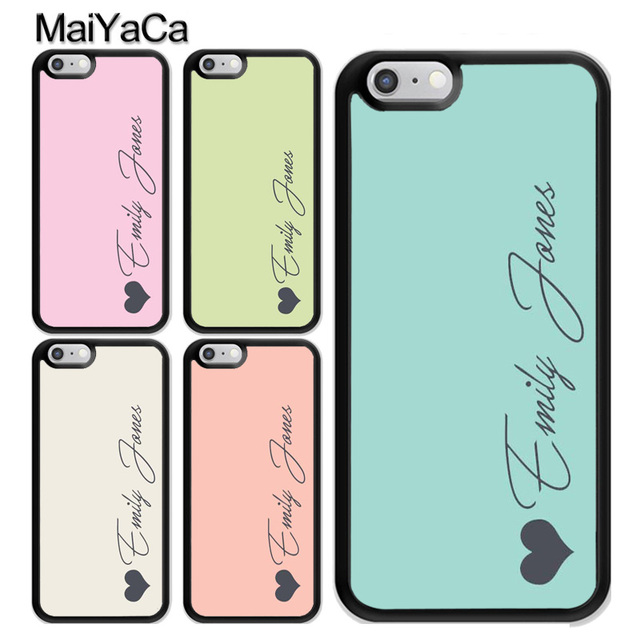 new product 01600 d8fb7 US $4.3 5% OFF|MaiYaCa Personalised Custom Name Pastel Tones Design Rubber  Phone Case Coque For iPhone 6 6S Plus 7 8 XS MAX X XR 5S SE Cover-in Fitted  ...