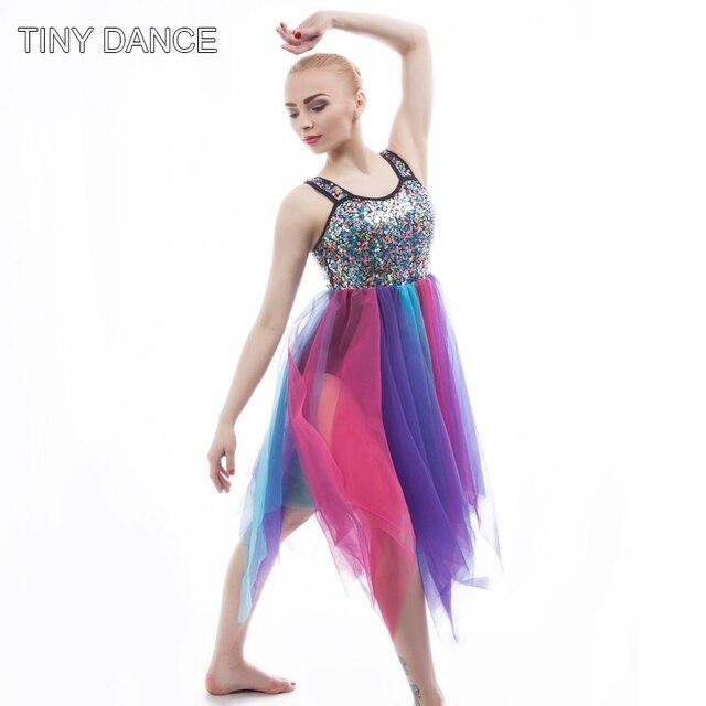Lyrical Dance Sequin Dress for Women Ballet Dance Costume Contemporary Dress  Stage Show Costume Performance Leotard 15a6d2c5320b