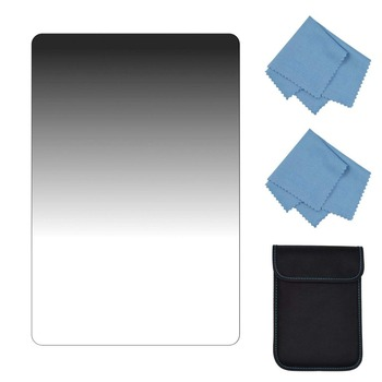 SIOTI Gradient ND16 Square Filter with Glass material for Cokin Z Lee Hitech Sioti Holder (100mm150mm, Soft G.ND1.2)