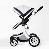 2017 Высокое качество Роскошный пейзаж коляска четыре колеса и место, чтобы лежат Детские коляски прогулочная коляска детской коляски