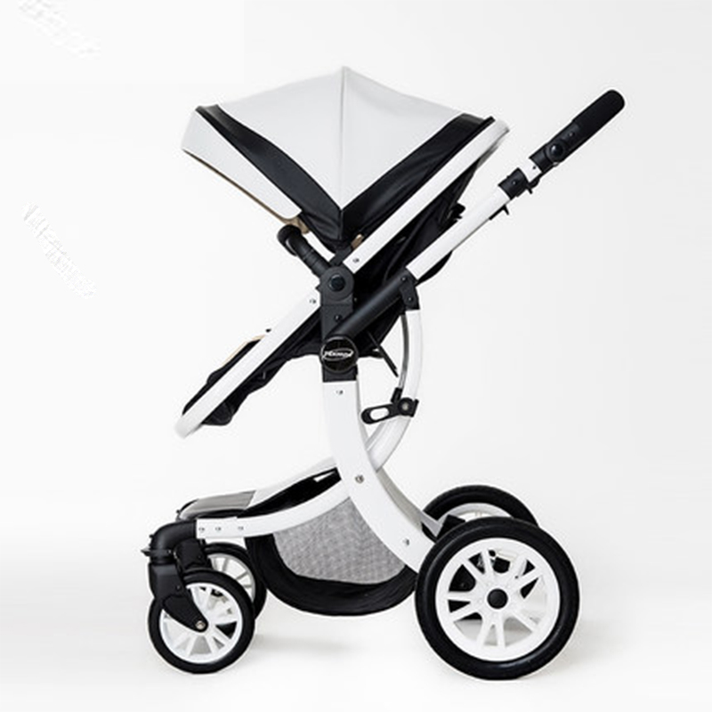 2017 High Quality Luxury Landscape stroller four-wheel drive and a place to lie baby stroller buggy stroller infant stroller new luxury baby stroller high landscape three dimensional four round baby stroller