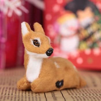 Mini Reno de Navidad simulado Navidad Elk Navidad Año Nuevo decoraciones para fiesta en casa 2019 Navidad Kerst