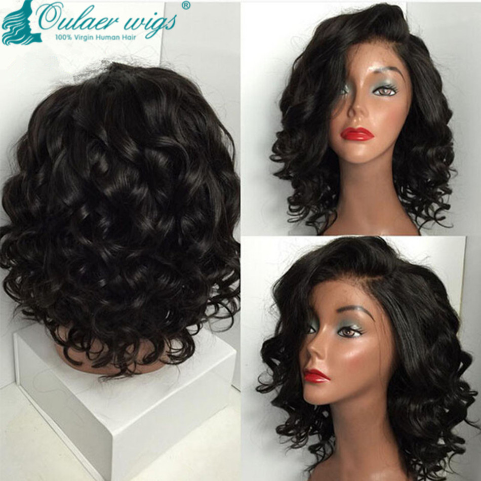 Bob Wigs For Black Women Glueless Full Lace Bob Wig & Brazilian Bob ...