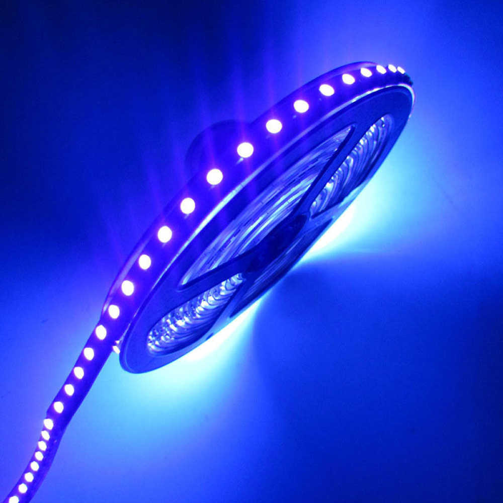 12V 3528/5050 SMD 60led/m 120led/m UV 395-405nm Ultraviolet waterproof Purple Led Flexible Strip Light Tape Black lamp lighting