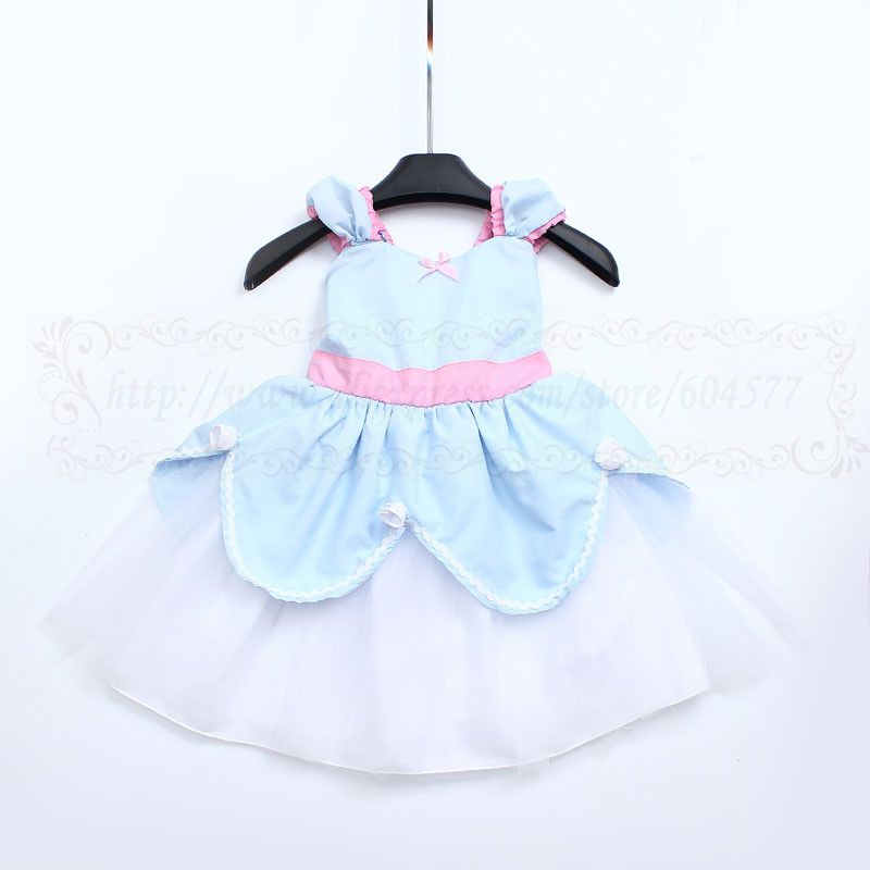CINDERE dress blue and pink tutu dress Princess dress handmade costume Practical princess dress