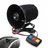 1 Set 3 Tone PA System 110db Loud Horn Siren Alarm For Car Boat Motorcycle Truck Black 12V DC 4A