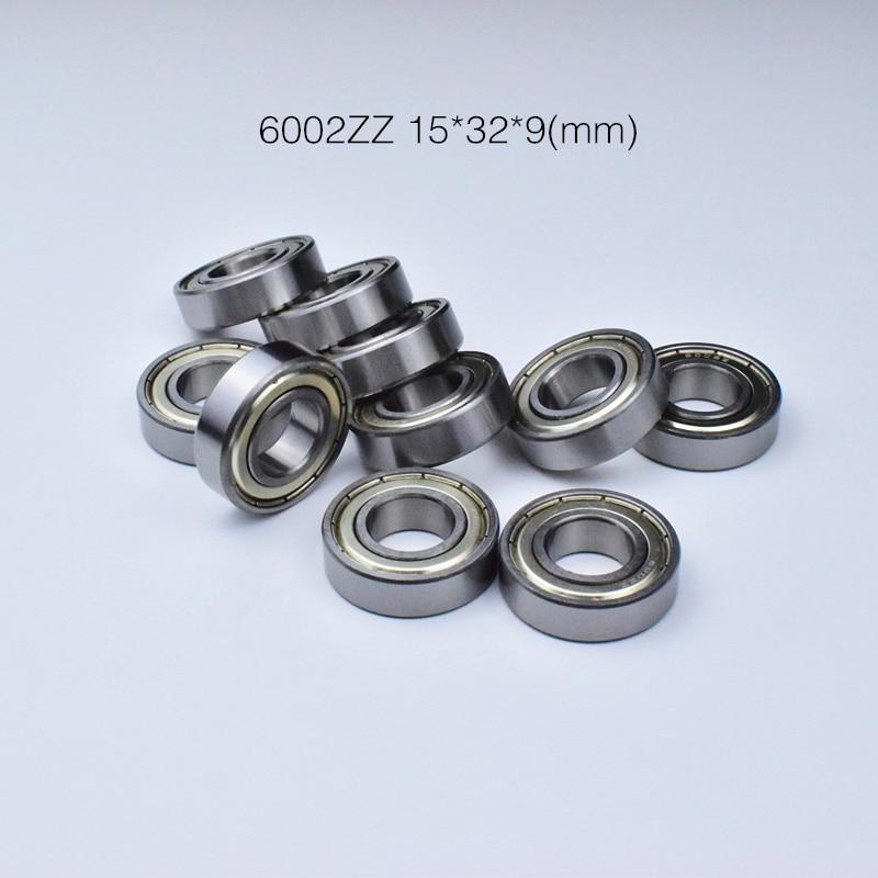 6002ZZ 15*32*9mm 1Piece Bearing Metal Sealing Bearings 6002 6002Z 6002ZZ Chrome Steel Deep Groove Bearing Free Shipping