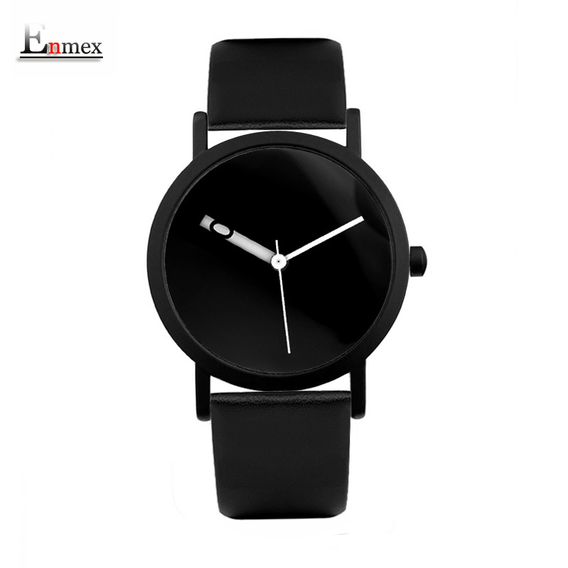 2017 Enmex creative design  wristwatch waterproof special Changeable number hour hand simple design  fashion quartz watches 2017 gift enmex special design wristwatch creative dial changing patterns simple fashion for young peoples quartz watches