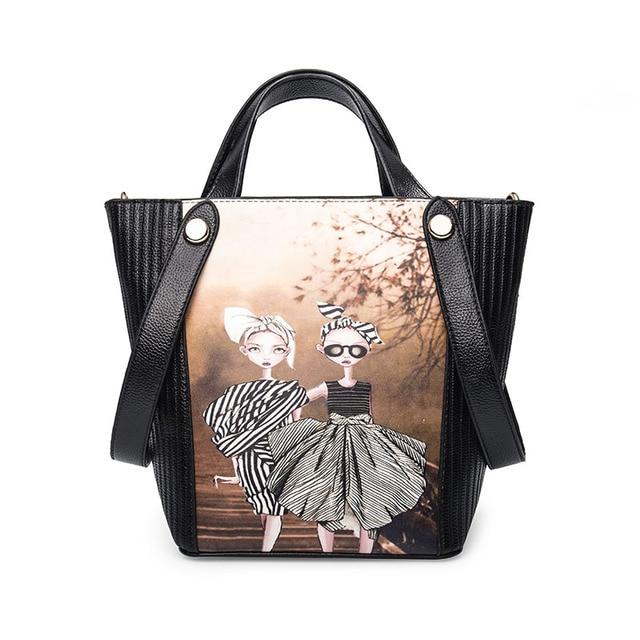 Brand Designer Women Messenger Bags Cotton Printing Girls Cross Body Bag Cute Handbags for Woman