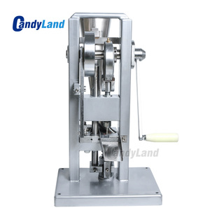 Image 4 - Machine de presse de pilule de CandyLand TDP0 pour le comprimé de Calcium de tranche de lait de poinçon simple faisant le simulateur de presse actionné à la main