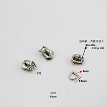 50 sztuk mix zamek błyskawiczny zestawy naprawcze pull metalowe zamknięcie suwakowe metalowy zamek błyskawiczny odzieży torby i walizki akcesoria sprzętowe ubrania tanie tanio Ze stopu cynku 5# 8# pengla metal zipper head
