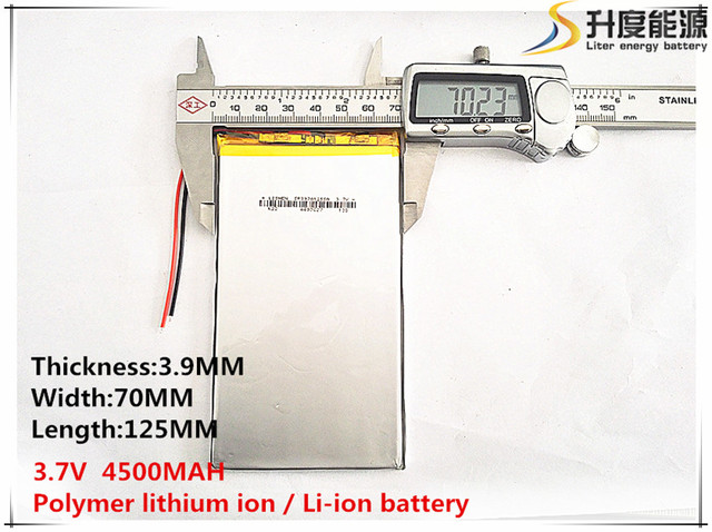 3.8V 3.7V 4500mAh [3970125] Polymer lithium ion / Li-ion battery ( ATL cell) for tablet pc,POWER BANK,pipo,cube,cell phone