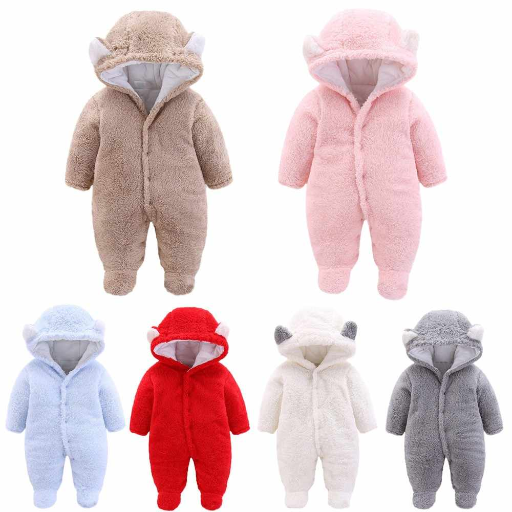 d4aea0d6b Detail Feedback Questions about Newborn Baby Girls Boys Clothes Solid  Cartoon Ear Velvet Hooded Jumpsuit Romper Clothes Kids Winter Warm Clothing  Costume ...