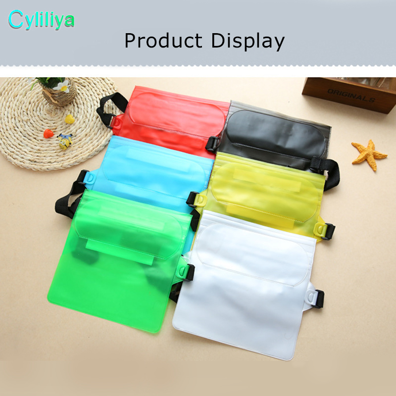50pcs PVC Waterproof Waist Pouch Handbag Bag Pounch Outdoors Drift Swimming Case Phone Protect Phone for Outdoor Adventures