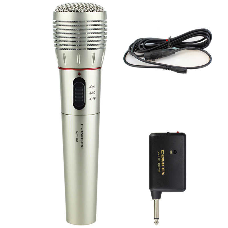 2016 Real Rushed Mikrofon Cable And Wireless Receiver Handheld Microphones Microphone Speech Lecture Meeting Karaoke Performance от Aliexpress INT