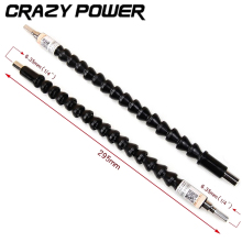 CRAZY POWER Electronics Drill Black Flexible Shaft Bits Extention Screwdriver Bit Holder Connect Link Snake Drill Flexible Shaft