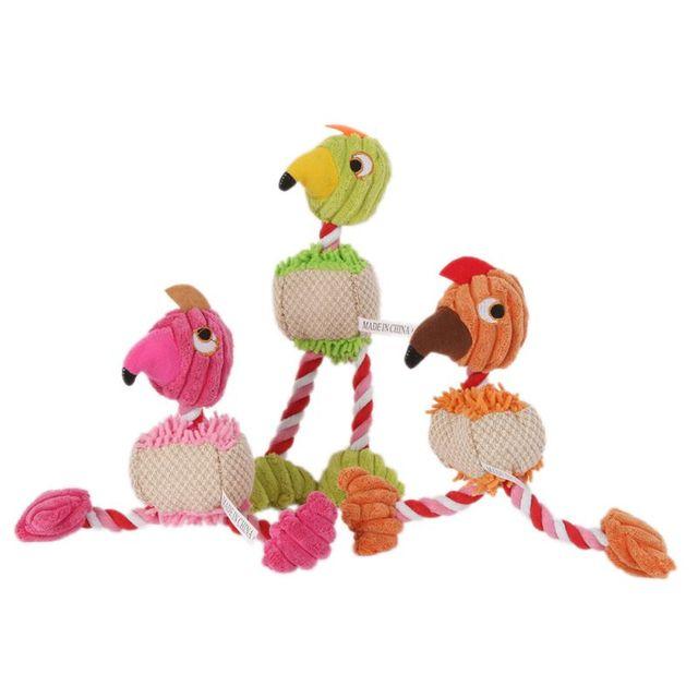 28*6 cm Prodotti per animali domestici Forma di Uccello Peluche Giocattolo Del C