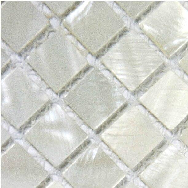 Mosaicos backsplash de la cocina azulejo Nacarado blanco 4/5 en ...