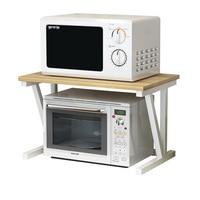 2 layer Simple Microwave Oven Shelf Pot Holder Spice Dish Rack Home Kitchen Organizer and Storage Plate Organizer Pan Rack Steel