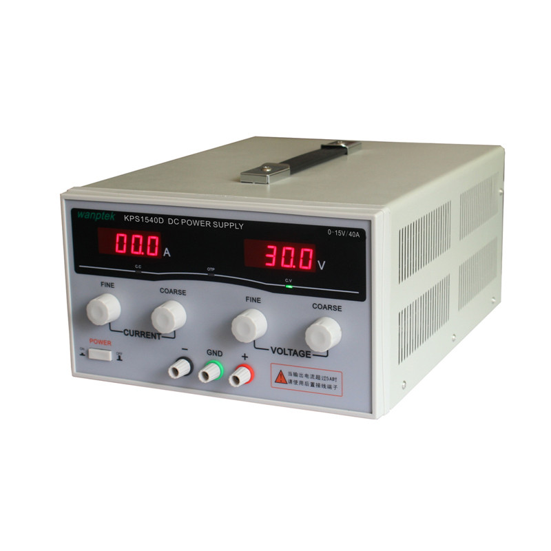KPS1540D High precision Adjustable LED Dual Display Switching DC power supply 220V EU 15V/40A high quality wanptek kps1550d high precision adjustable display dc power supply 15v 50a high power switching power supply
