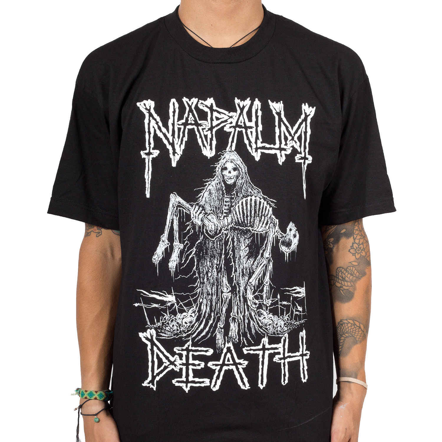 Authentic NAPALM DEATH Band Reaper Skeleton Metal T-Shirt S-3XL NEWLoose Black Men T shirts Homme Tees
