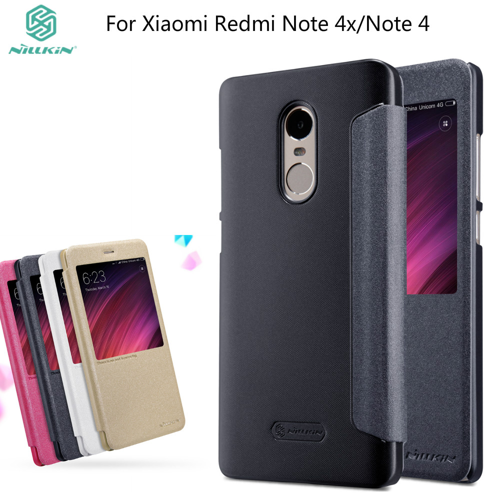 case for xiaomi redmi note 4x cover case NILLKIN Sparkle PU leather case flip cover for xiaomi redmi note 4 /redmi note 4x pro