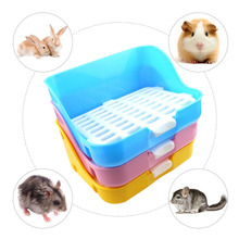 Hamster Guinea Pig Toilet Tray Box Durable Indoor Pet Puppy Rabbit Potty Training Doggy with wall