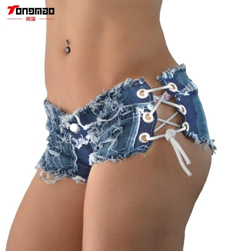 Ženy Sexy džíny džínové kraťasy 2019 letní móda bavlněná krajka sexy super šortky dámské hubené super krátké džíny dívky