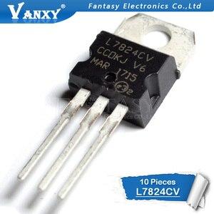 Image 2 - 10PCS L7824CV TO220 L7824 כדי 220 7824 LM7824 MC7824 חדש ומקורי IC