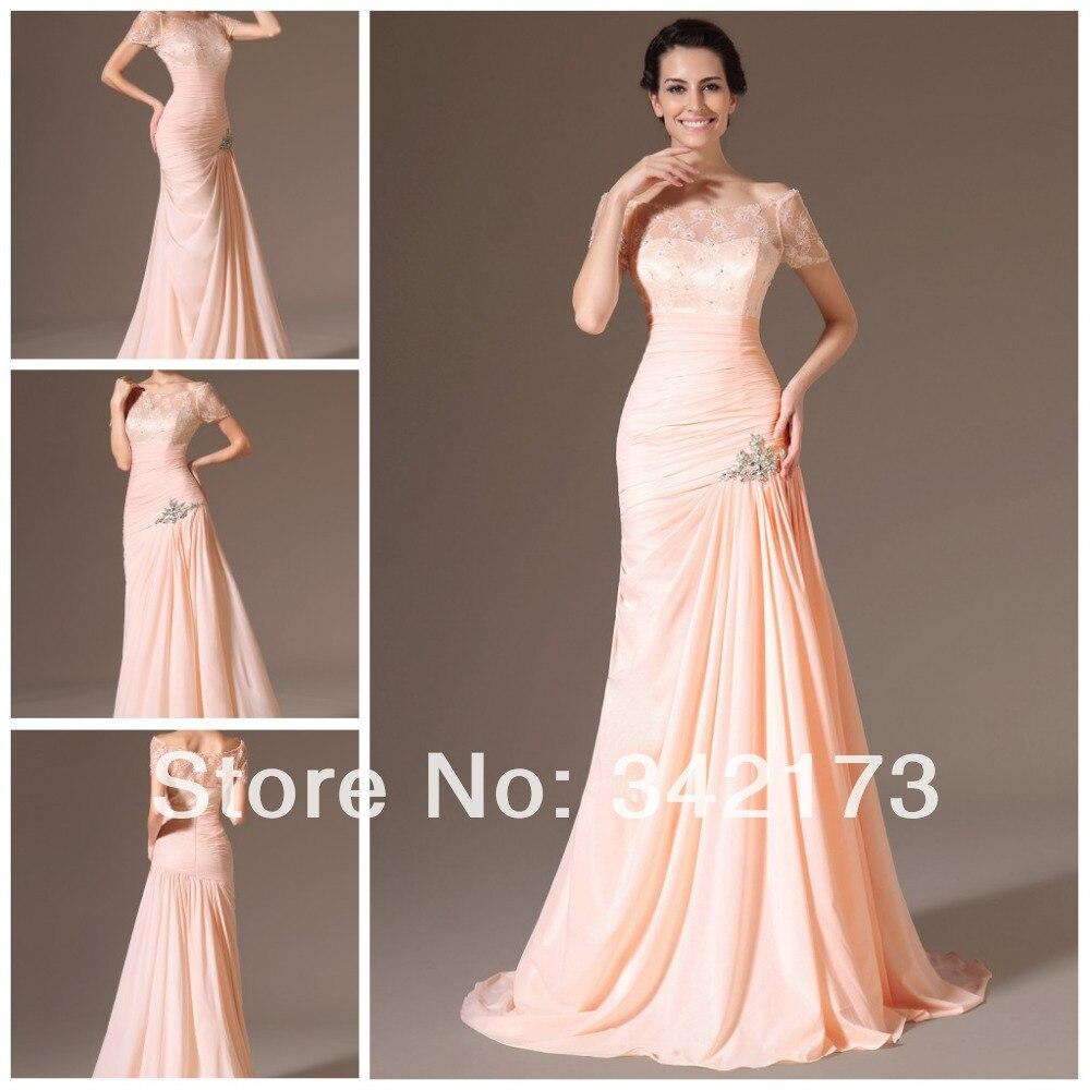 Lace Peach Prom Dress_Prom Dresses_dressesss