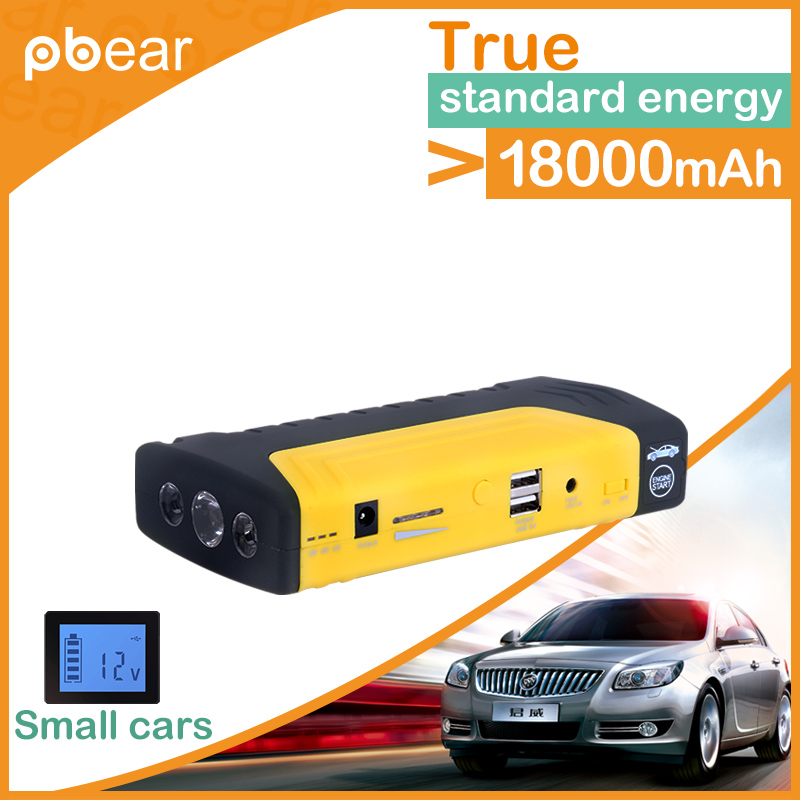 ФОТО High power 18000mAh Car Emergency jump starter vehicel engine booster eps start rechargeable battery power pack supply charger