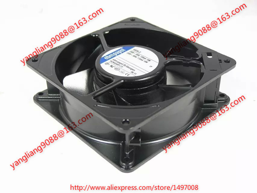 ebm papst   4656 Z AC 230V 18/19W  120x120x38mm Server Square fan ebm papst 4800z 4800 z ac 115v 0 16a 0 14a 13w 12w 120x120x38mm server square fan