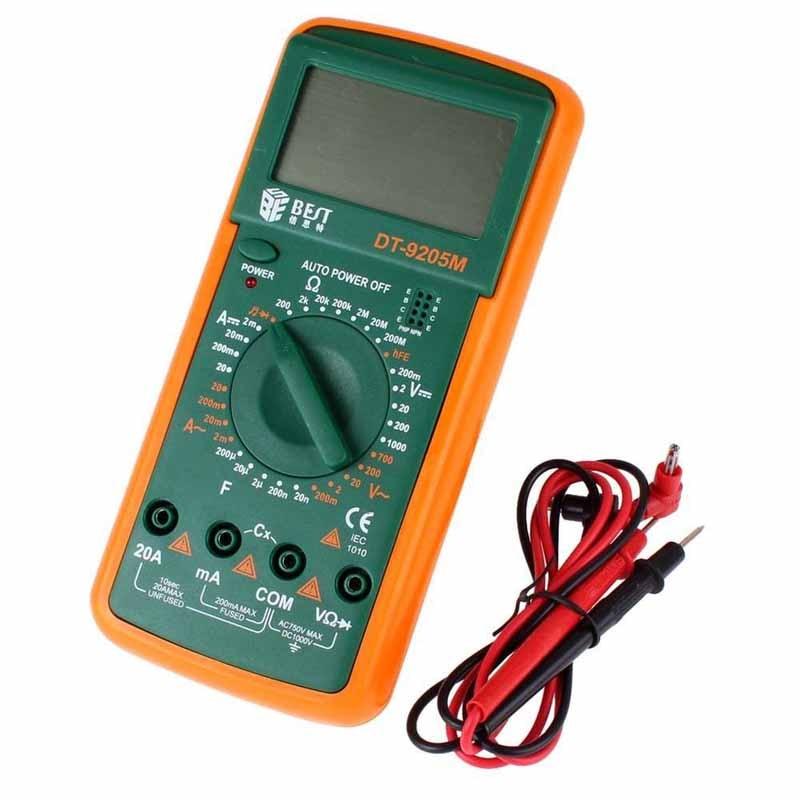 Large LCD Digital Multimeter Digital DT Tester BEST DT9205M Handheld Test Lead For Multimeter Buzzer DMM Meter 2900a Upgraded