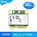 Atheros AR9832 AR5BHB116 Dual band 300 Mbps Wi-fi 802.11 a/b/g/n Metade Mini PCI-E Sem Fio cartão de 2.4 Ghz 5 Ghz Notebook Adaptador Wlan