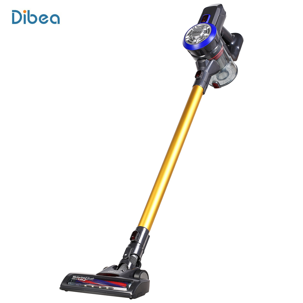 Dibea PortableLED Lamp 2 In1 Lightweight Cordless Handheld Vacuum Cleaner Dust Collector Household Aspirator Crevice Tool drill buddy cordless dust collector with laser level and bubble vial diy tool new