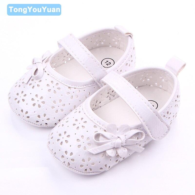 New Hollow Design Fretwork Flower Pattern Prewalker Toddler Baby Girl Shoes For 0-15 Months