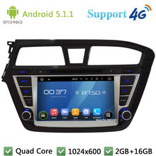 QuadCore 8″ 1024*600 2DIN Android 5.1.1 Car DVD Player Radio DAB+ 3G/4G WIFI GPS Map For Hyundai I20 Left Hand Driving 2014 2015