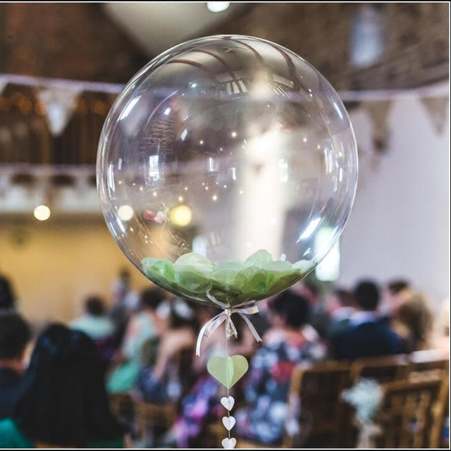 5PCS 24inch BOBO Balloon Helium Clear No Wrinkle Transparent  Inflatable Balloons Wedding Happy Birthday Party Decoration Globos