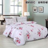 100% baumwolle Tröster Innen für Einzigen Doppelbettdecke Hause Bettwäsche Micro Feder Stoff Füllung Decke 150*200 cm 200*230 cm Weiß