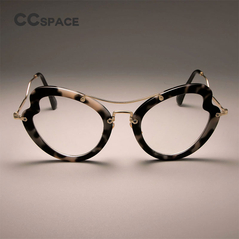 cda9ef065c CCSPACE 45525 Ladies Khaki Pink Square Glasses Frames Women Metal Leather  Woven Legs Optical Fashion Eyewear Computer Glasses