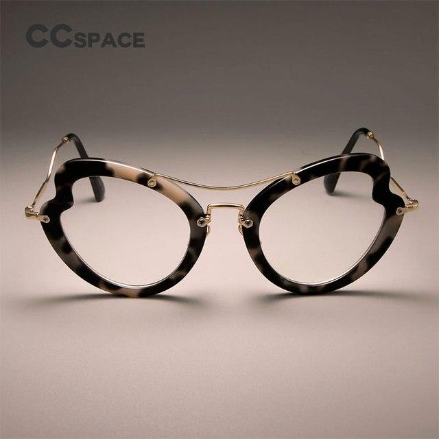 5b6b2354f7 CCSPACE Ladies Irregular Butterfly Glasses Frames For Women Cat Eye Brand  Designer Optical EyeGlasses Fashion Eyewear